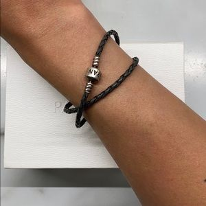Pandora Jewelry - Pandora Double Wrap Leather Bracelet